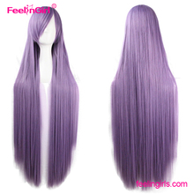 Super Long Purple Side Human Hair Lace Front Micro Braids Wig