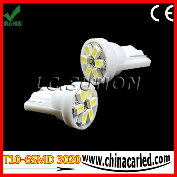 100% compatiable T10 LED Car T10-6SMD 3020