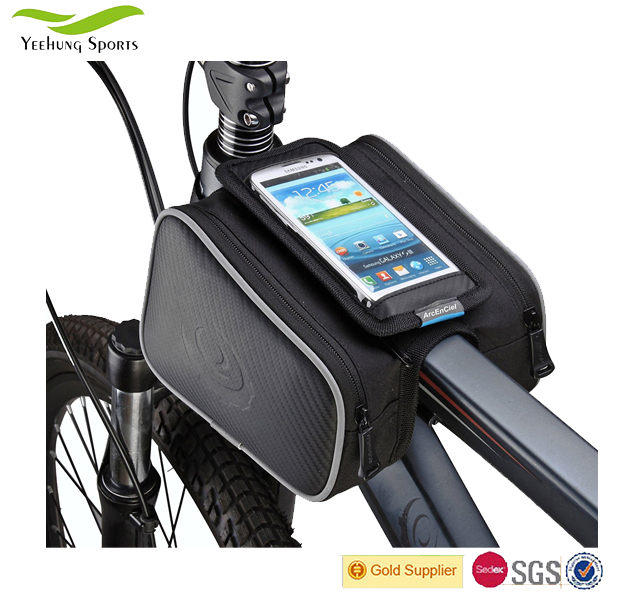 Quanzhou Supplier Front Top Tube Pannier Bike Frame Storage Bag Mobile Phone Holder Alibaba