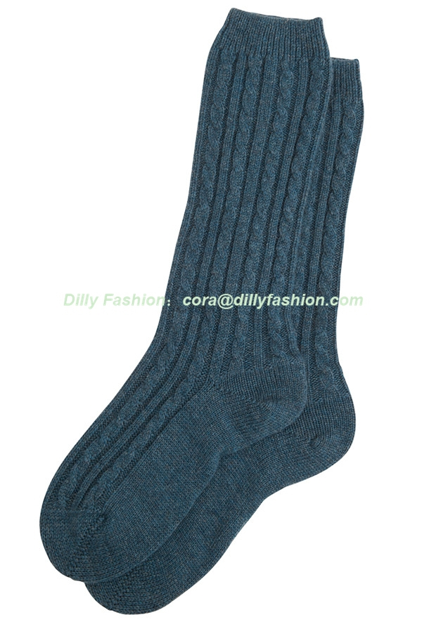 Custom Cable Knit 100% Cashmere Bed Socks For Women - Buy Bed Socks,100% Cash...