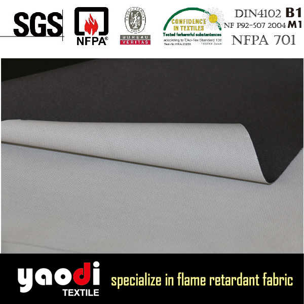 fire resistant waterproof 4 way stretch knitted fabric with Tpu coating