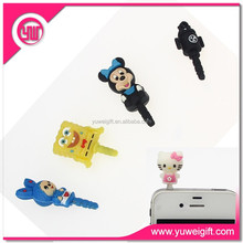 Mobile phone accessories custom gauges plugs phone dust plug shamballa ball