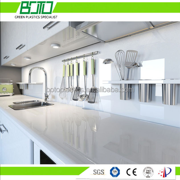 30mm thickness full size covered white bathroom/kitchen cabinet PVC foam board