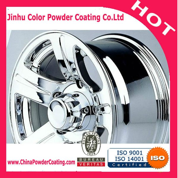 Antique metallic pearl mirror chrome Powder paint powder coating for car wheels
