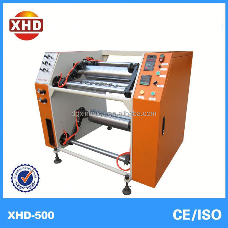 half -auto. stretch film rewinding slitter machine