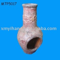Clay chiminea terracotta firepot