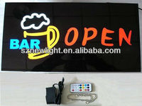 Led sign board Led open sign led letters names of coffee shops