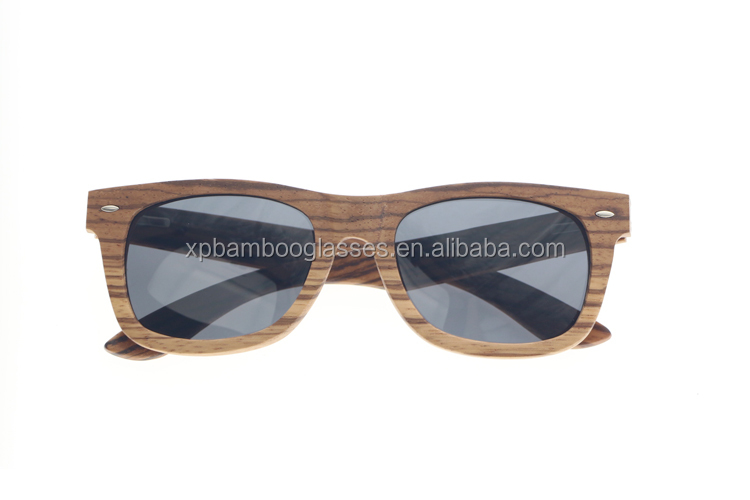 Promotion Custom Branding Logo Polarised Zebra Wooden Sunglasses Manufacturer