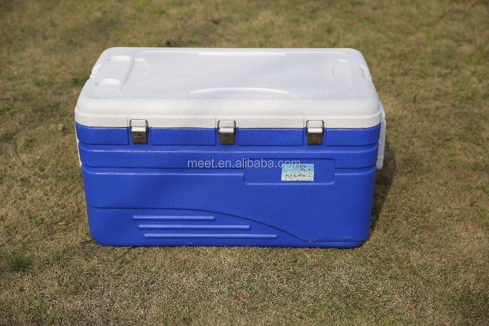 130 Liter hot selling styrofoam ice chest cooler box&Food fresh plastic cooler ice box&camping transport cooler box
