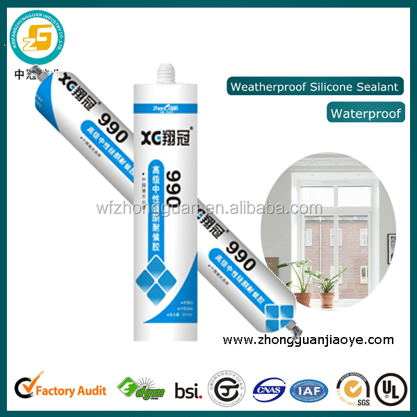 Low price silicone rubber adhesives sealants for rain gutters