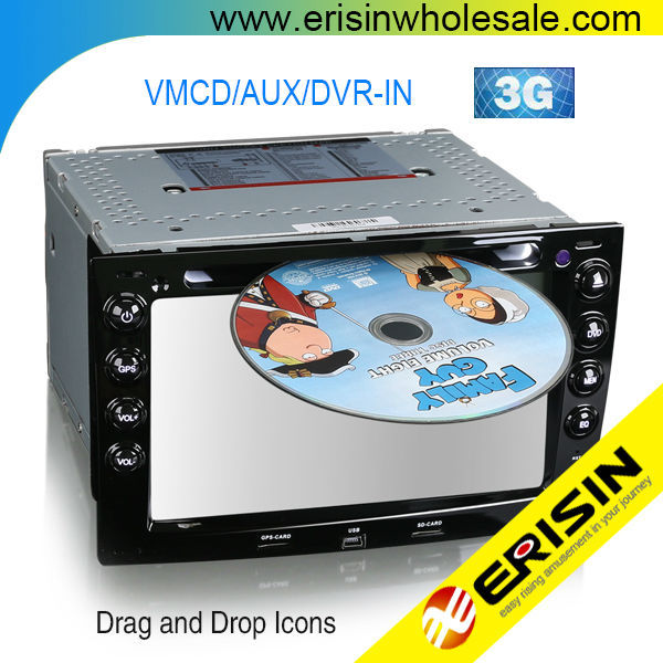 Erisin ES7691M 7 inch Touch Screen Car DVD Player for Renault Megane
