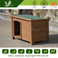 Custom cheap solid wood big dog house for outside use