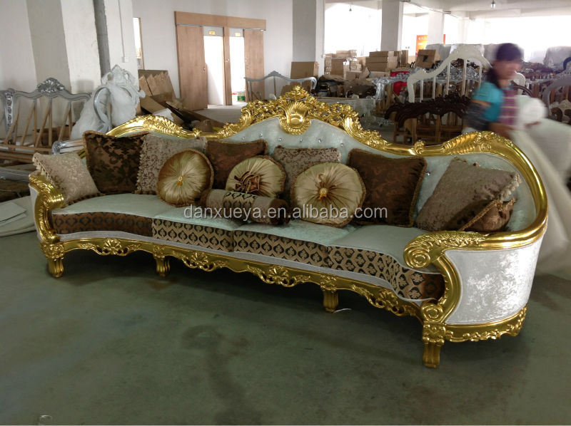 danxueya antique gold wood sofa/guangzhou furniture market/living room furniture