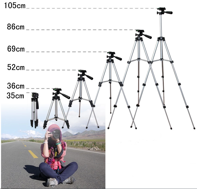 "42"" Aluminum Camera Tripod w/Bubble Level"