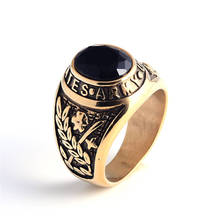 High School Ring Manufacturers China Black Onyx Class Army Rings