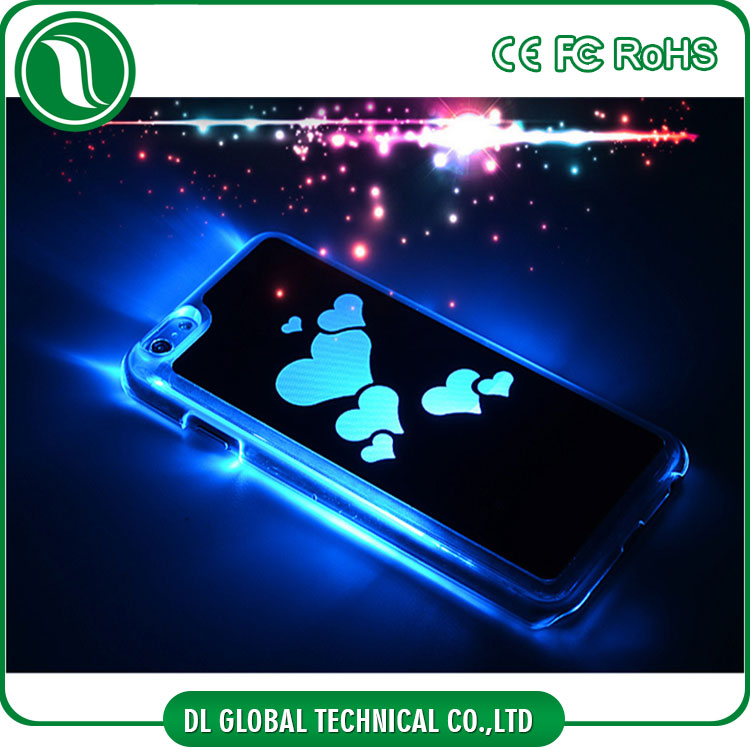 Call incoming led flash light mobile phone cover for ipihone 6 aluminum case with battery chip invisible
