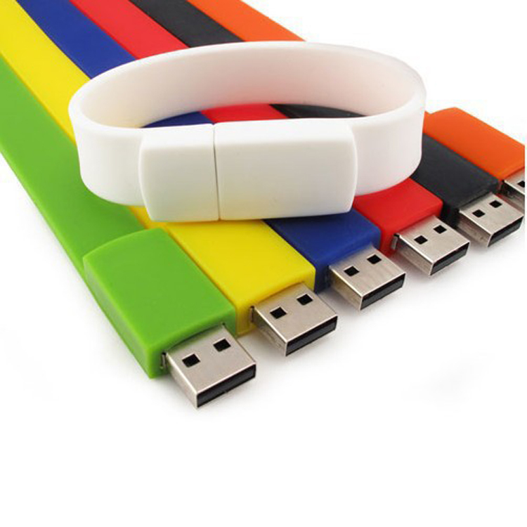 Waterproof Custom Silicone Bracelet Wrist Band Wristband USB Stick Drives Usb Flash Drive Pen Drive Pendrive