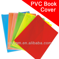 Different Colors PVC School Book Cover/clear book cover.