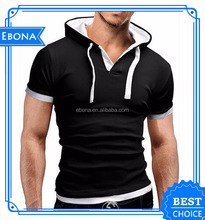 High Quality 80 Cotton 20 Polyester Hoodies Custom Made Men T Shirt With Thumb Hole