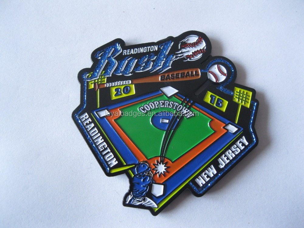 Custom cooperstown baseball lapel pin