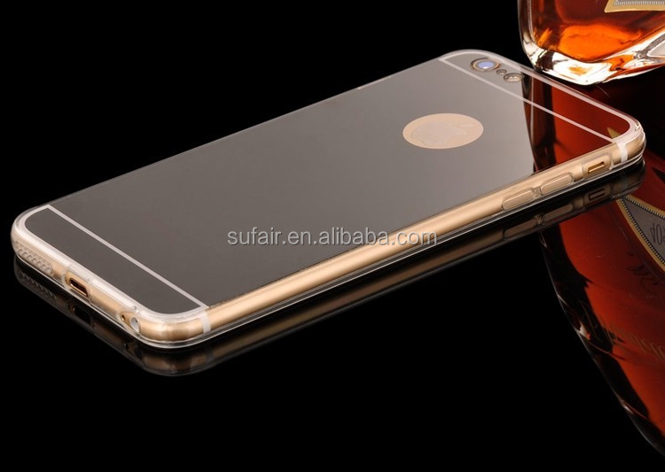 Luxury Ultra Thin Electroplate TPU Back Cover Mirror Phone Case For iPhone 7 7Plus