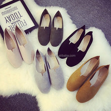 latest lady flat loafer shoes whole sale women shoes