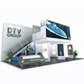 Custom modular exhibition stand portable display modular trade show stands