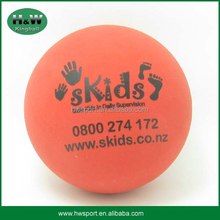 High rubber bouncy ball printed with logo