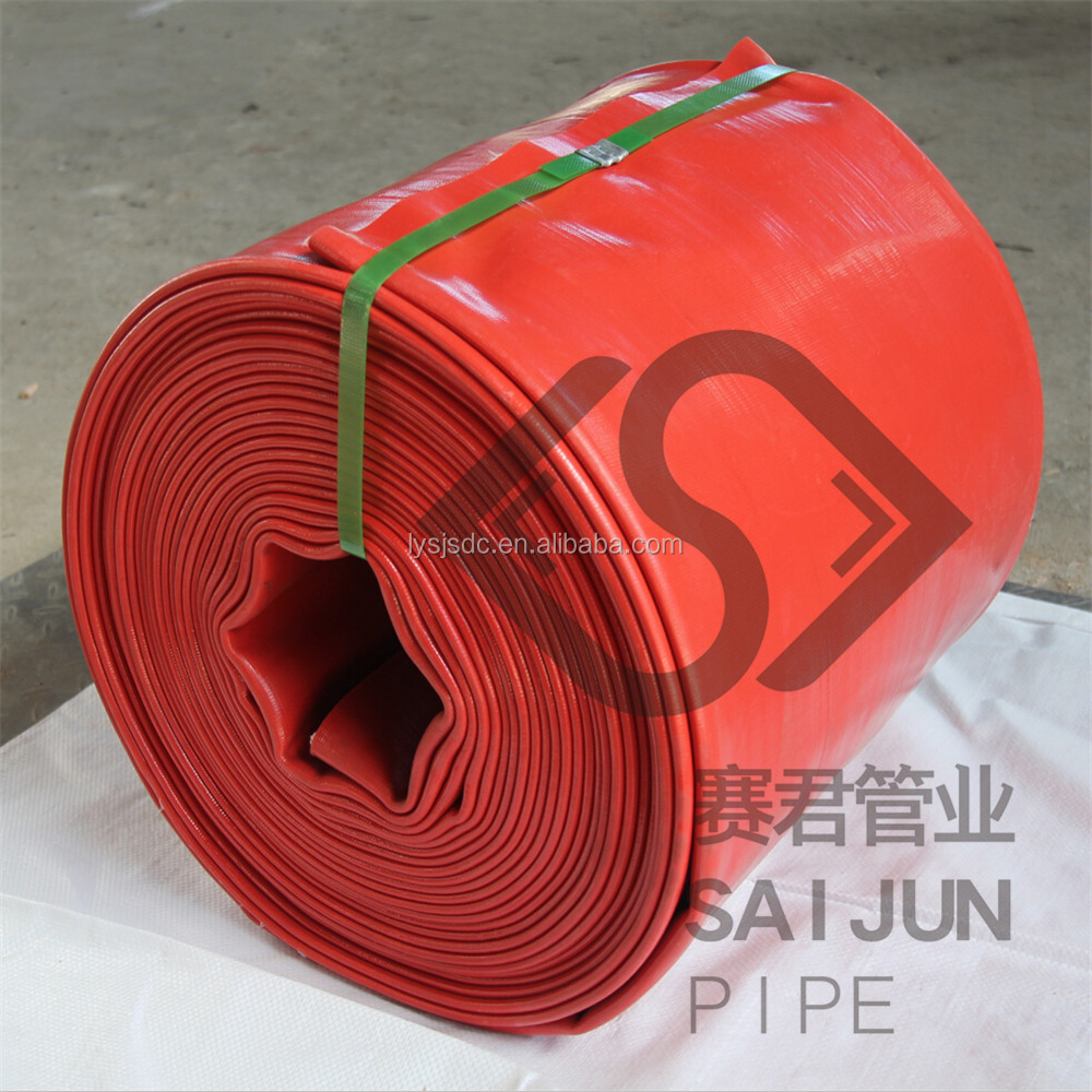5 years service life 12 INCH Flexible Layflat hose PVC in stock