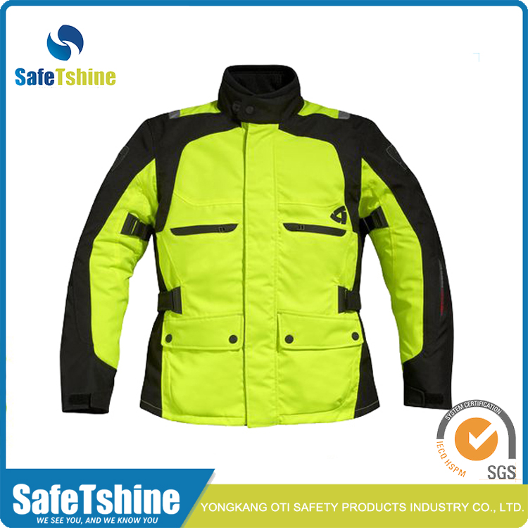 High visibility reflective waterproof winter safety jacket