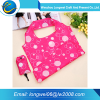 All dimensions customized promotional polyester foldable shopping bag