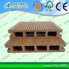 LSHD-03 135*25mm wpc decking prices/Durable Water Proof Outdoor Wood Plastic Composite Deck/WPC Floor Passed CE