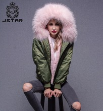 Good Price Goose Down Bomber Jacket Wholesale Real Fur Hooded Winter Coat