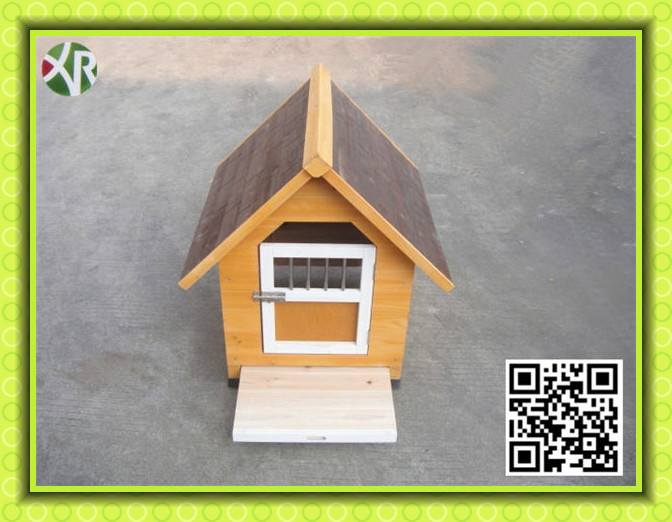 dog kennel with a-frame top XD 009