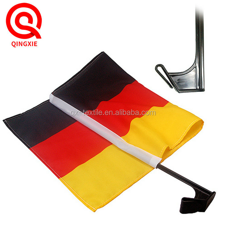 Cheap Price 100% Polyester Screen Printing World Cup National Car Window Flags
