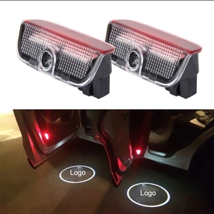 OEM Dropshipping 2PCS/Pair LED Ghost Shadow Light Car Door LED Laser Welcome Decorative Light Display Logo for Skoda Car Brand