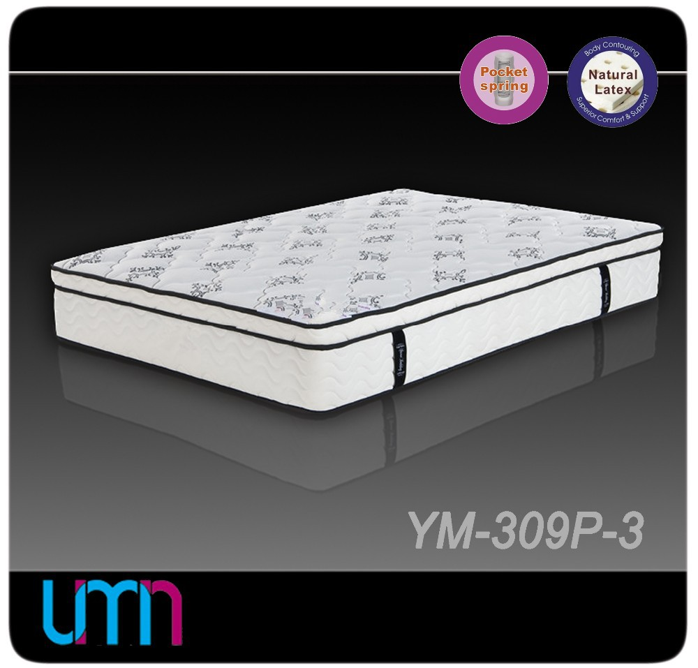 YM-309P-3 dreamland furniture pocket spring rubberised mattress