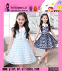 2015 Summer Hot Sale Printed Chiffon Girl Dress Custom V Collar Fashion Cheaper New Design Kids Dress