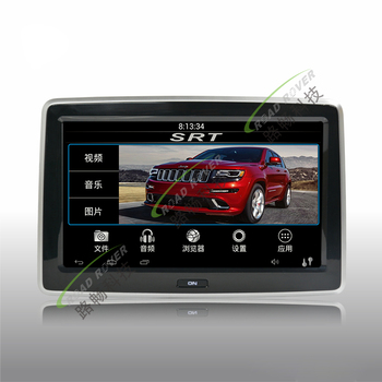 Hot sell 10.1 inch HD digital screen android 4.4 system car rear seat entertainment system for Jeep Grand Cherokee