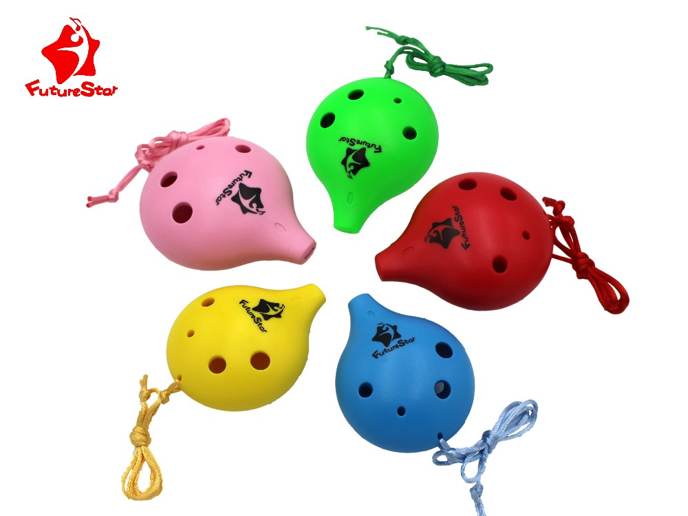 children 6 holes hot sale and popular plastic ocarina for promotion