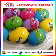 Directly manufacture exquisite coloring egg shrink label ,decorative label