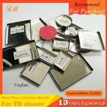 Free sample square metal Iron magnetic pans for eyeshadow Z palette