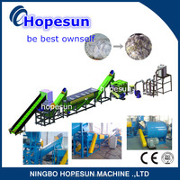 New design waste polyethylene film recycling line