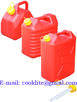 Polyethylene Fuel Jerry Can Plastic Gas Can with Flexible Spout