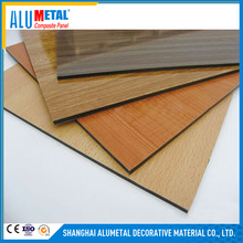Foil thickness 0.04-0.2mm wood grain aluminum composite panel with 10mm 15mm 20mm