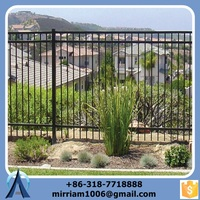 Wrought Iron Fence with Forged Spears, iron Fence with Good Price and Quality and Surface Treatment