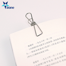 Decoration Promotional Gifts Silver Wire Metal Spring Binder Clip Paper Photo Holder In Stock