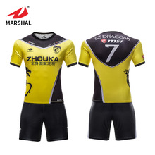 OEM original jersey football training uniform custom youth yellow black soccer kit shirt sports jersey
