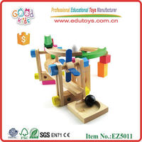 Wooden Roller Coaster Tracks Block Toy