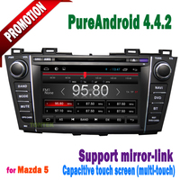 2 din touch screen car gps navigation for mazda 5 with wifi 3g tv radio MP3 BT SWC mirror link+2 years warranty ANDROID